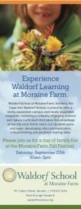 Morain Farm Fall Festival announcement