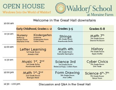 Windows Into the World of Waldorf Open House