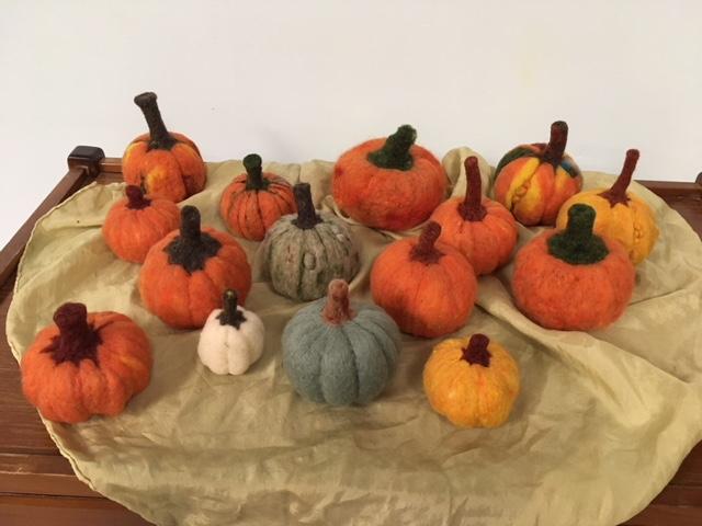 Pumpkin Felting Pioneers