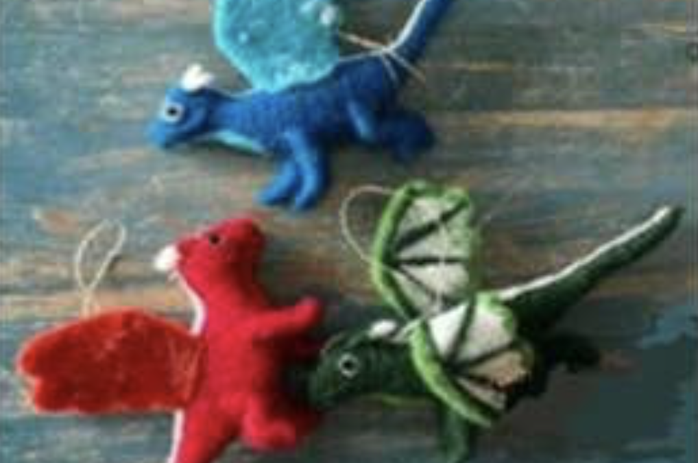 Enchanted Caravan Store: Featured Item of the Week: Handmade Felted Ornaments and Garlands