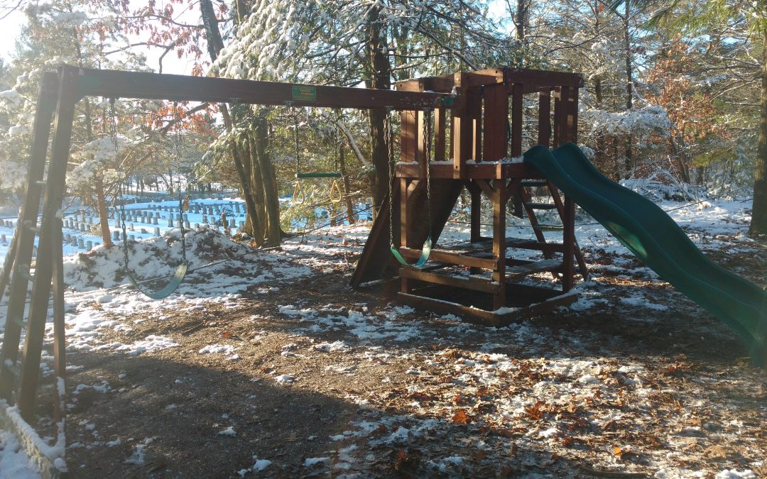 New play structure in 1st & 2nd grade playground