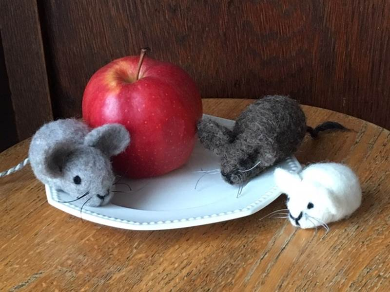 Adult Workshop:  Mouse Felting Class. Saturday, January 25